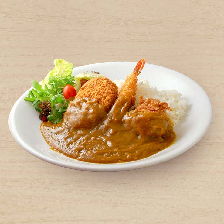 Mix Fry Curry Rice