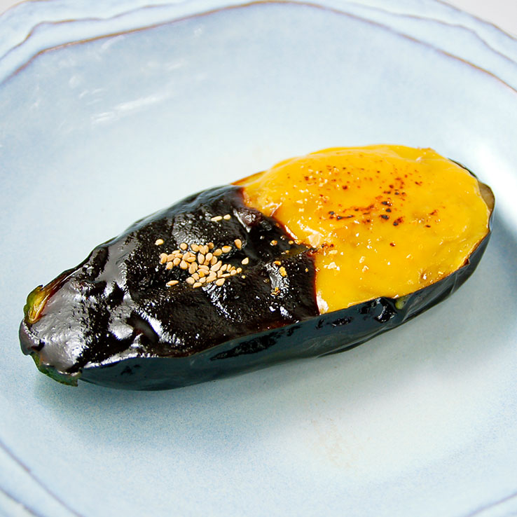 Grilled Jumbo Eggplant with Miso